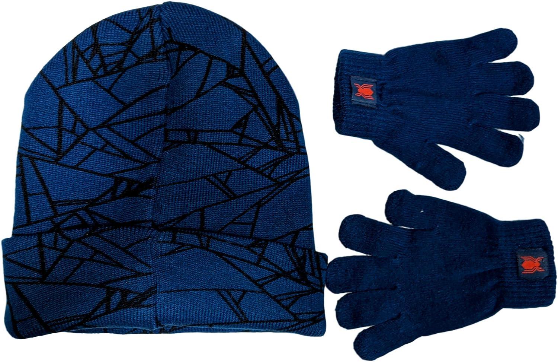 Marvel Spider-Man Boys Beanie Hat and Gloves Winter Set