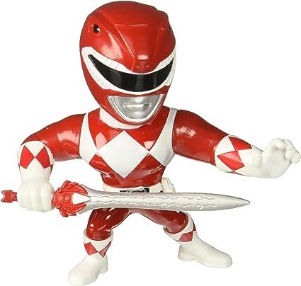 Jada Toys Metals Mighty Morphin Power Rangers Red Ranger 4 Inch Action Figure
