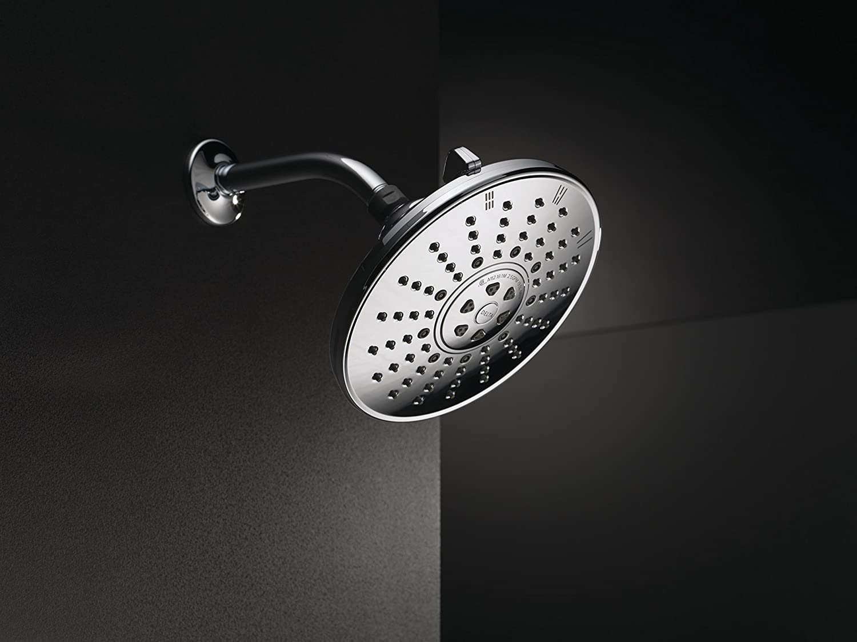 Delta 75353 8-Inch 3 Spray Massage Shower Head, Chrome - Tub And ...