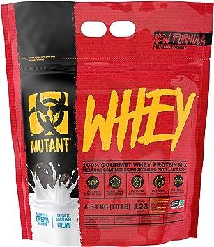 Mutant Whey - 100% proteína de suero en polvo, sabor gourmet, 22 g de proteína, 4.54 kg - galletas y crema