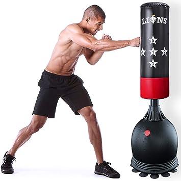 Saco de Boxeo de pie para Artes Marciales Mixtas y Artes Marciales Mixtas MAXSTRENGTH 1,67 m