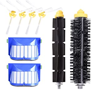 DLD Accessory for iRobot Roomba 600 610 620 630 645 650 655 660 680 500 Series Model 595 Replacement Kit Replenishment iRobot Parts Set Filter Side Brush Bristle Brush Flexible Beater Brush