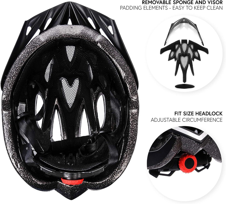 meteor/® Casco Bicicleta Helmet de Bici para Jovenes y Adultos Helmet Ciclismo Patineta Skate Patines Monopatines Bici Accesorios El dise/ño Ligero Muchos Patrones Shimmer