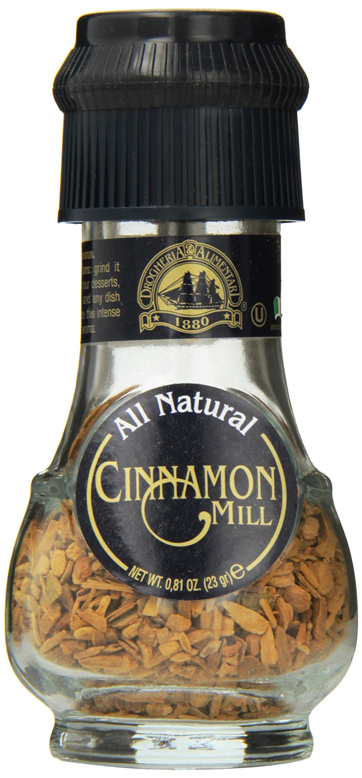 Drogheria & Alimentari All Natural Spice Grinder Cinnamon, 0.81 Ounce (Pack of 6)