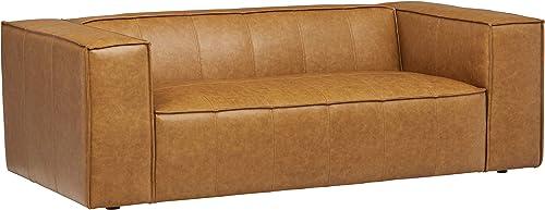 Amazon Brand Rivet Thomas Modern Leather Sofa Couch
