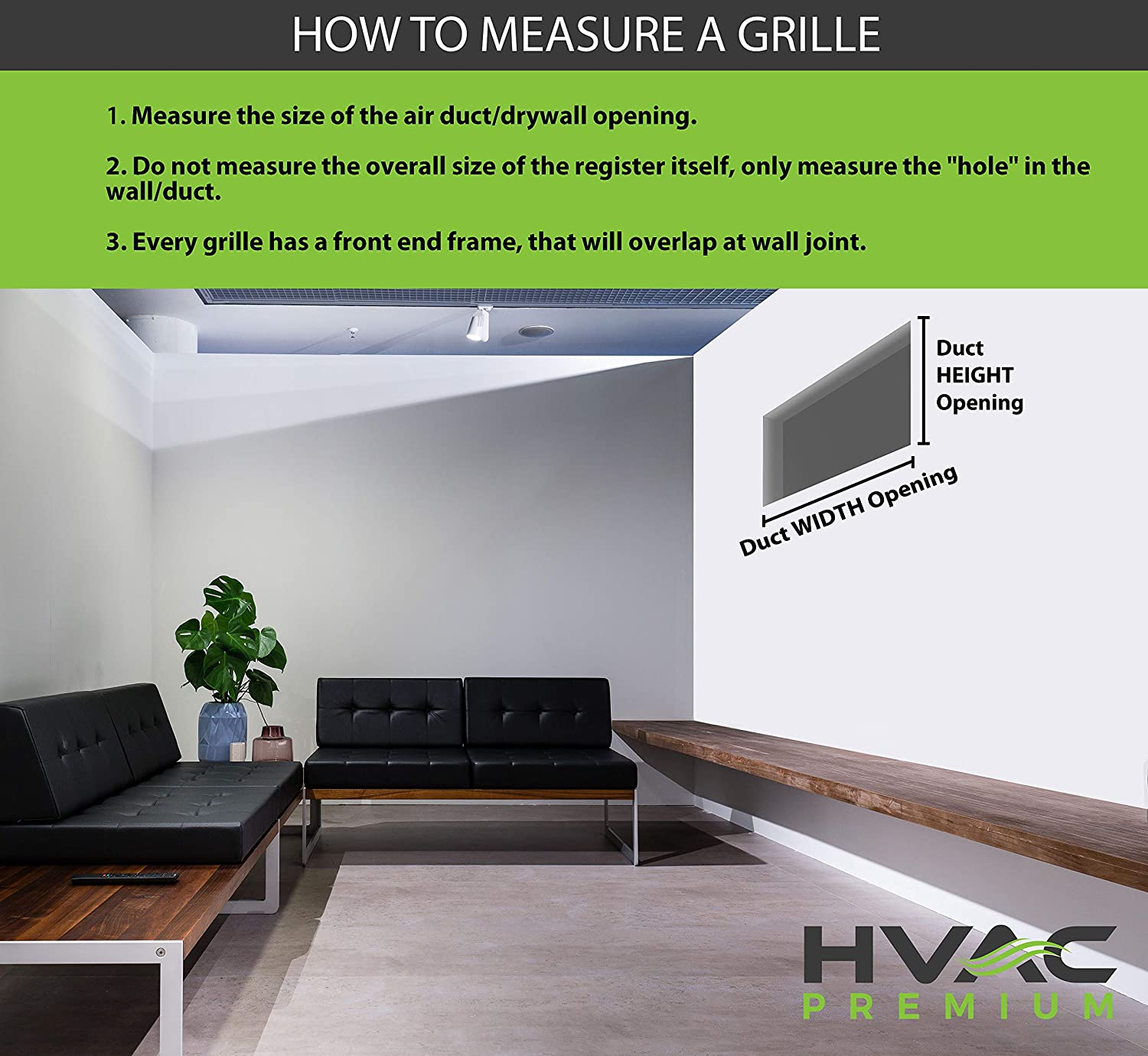 Grille Register Outer Dimensions: 15.75w X 9.75h HVAC Vent Cover Sidewall or Ceiling White 14w X 8h Adjustable AIR Supply Diffuser High Airflow