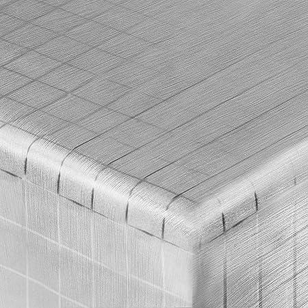 Casa Pura® Stylish Silver Patterned Tablecloth | Non Slip | 140cm Wide | 140