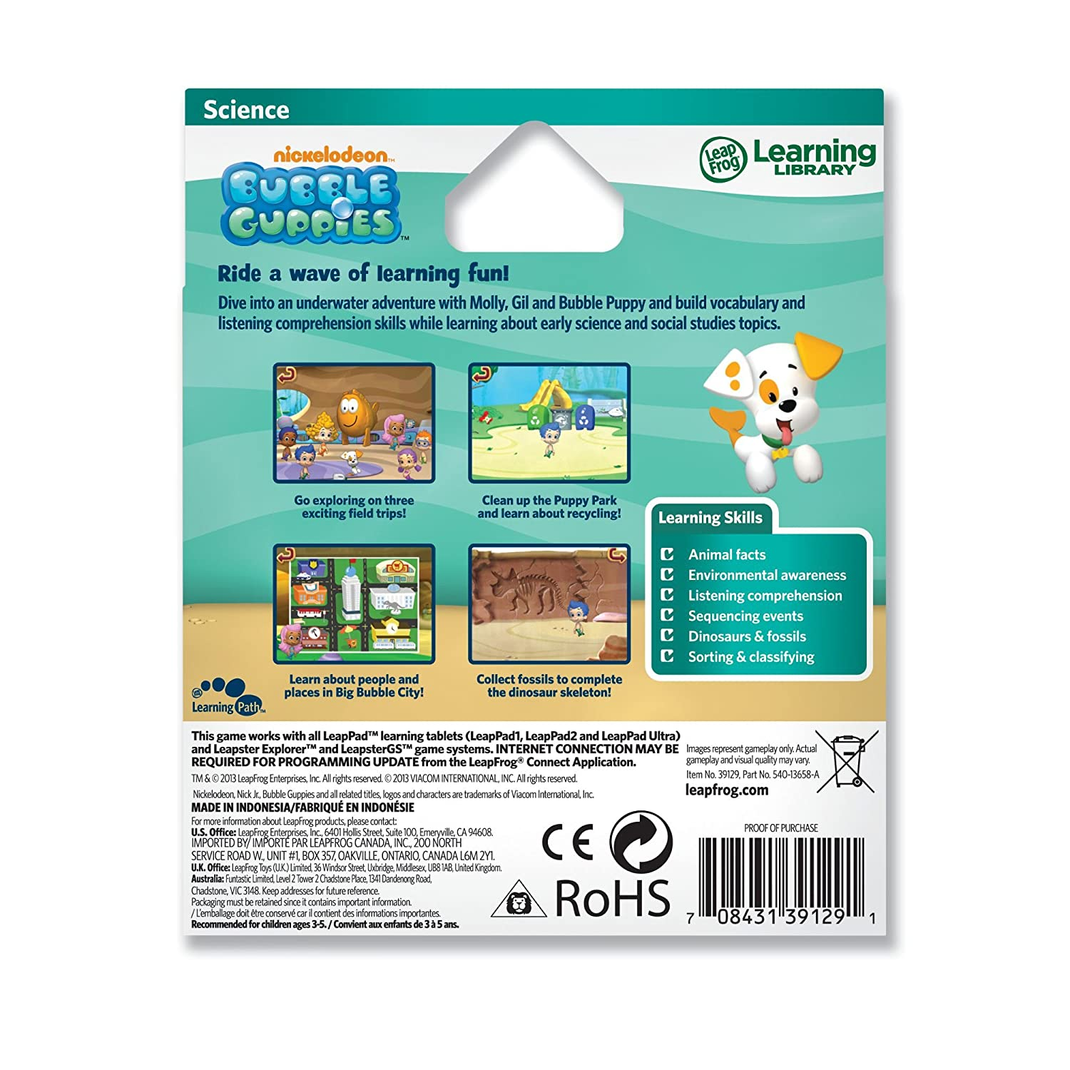 leapfrog explorer game bubble guppies for leappad and leapster
