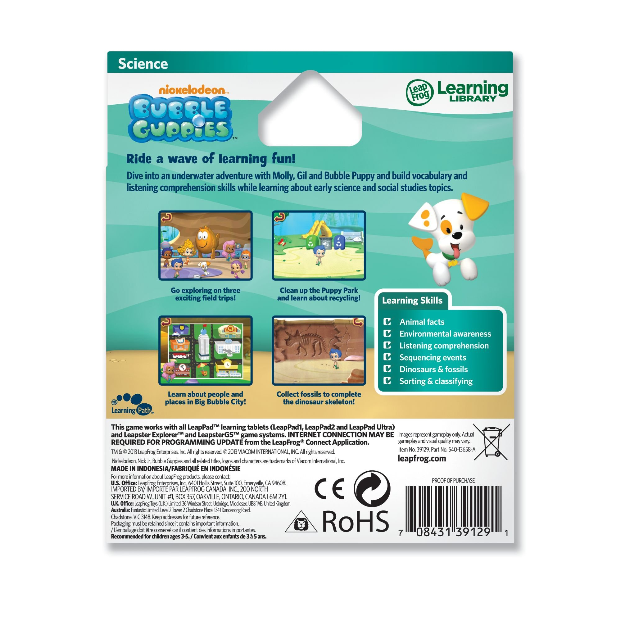 LeapFrog Learning Game: Bubble Guppies (for LeapPad Platinum, LeapPad Ultra, LeapPad1, LeapPad2, LeapPad3, Leapster Explorer, LeapsterGS Explorer) by LeapFrog (Image #3)