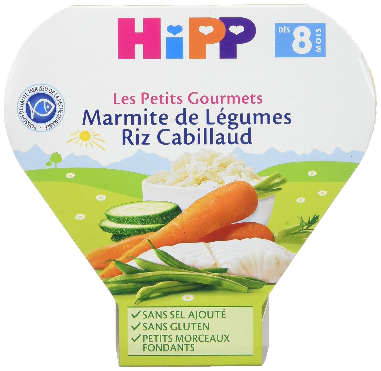 Hipp Biologique Les Petits Gourmets Marmite de Légumes Riz Cabillaud dès 8 mois - 7 assiettes de 200 g 4062300205154
