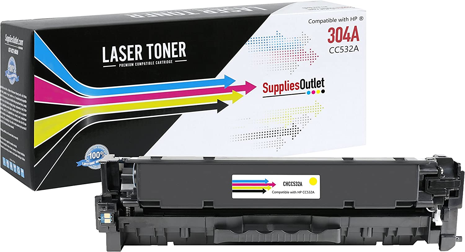 Generic Compatible Toner Cartridge Replacement for HP CC532A (Yellow)