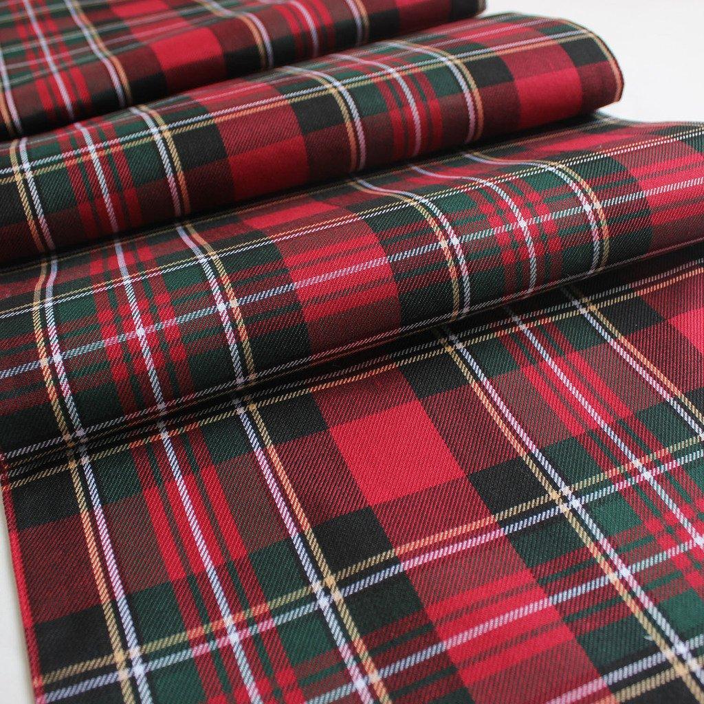 Sorrento promotion100% Polyester Plaid Écossais Thème Chemin de table Ltd.