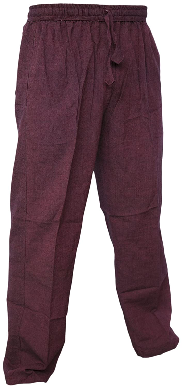 Gheri Mens Cotton Hemp Casual Cargo Lounge Trousers