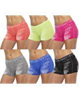 GILBIN'S Women Seamless Stretch Boy Shorts Panties Various Styles (Pack of 6)
