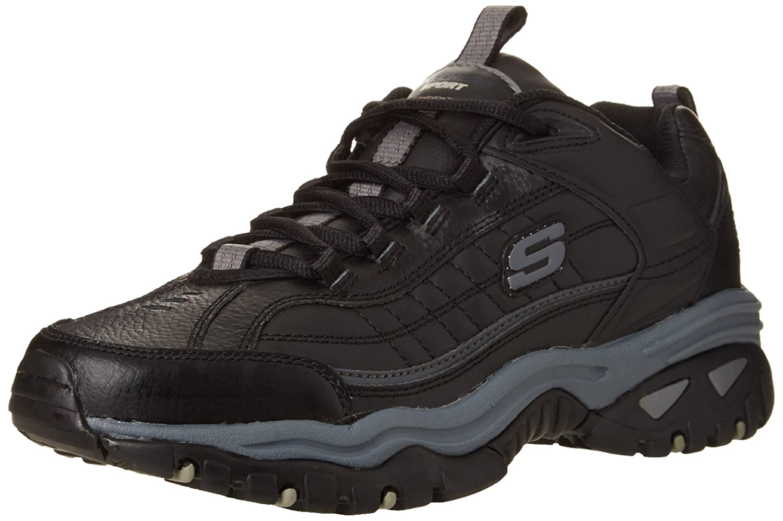 Noir Hommes Skechers Chaussures De Tennis xmO2ql