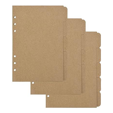 Amazon.com: Bluecell - Juego de 3 separadores de papel Kraft ...