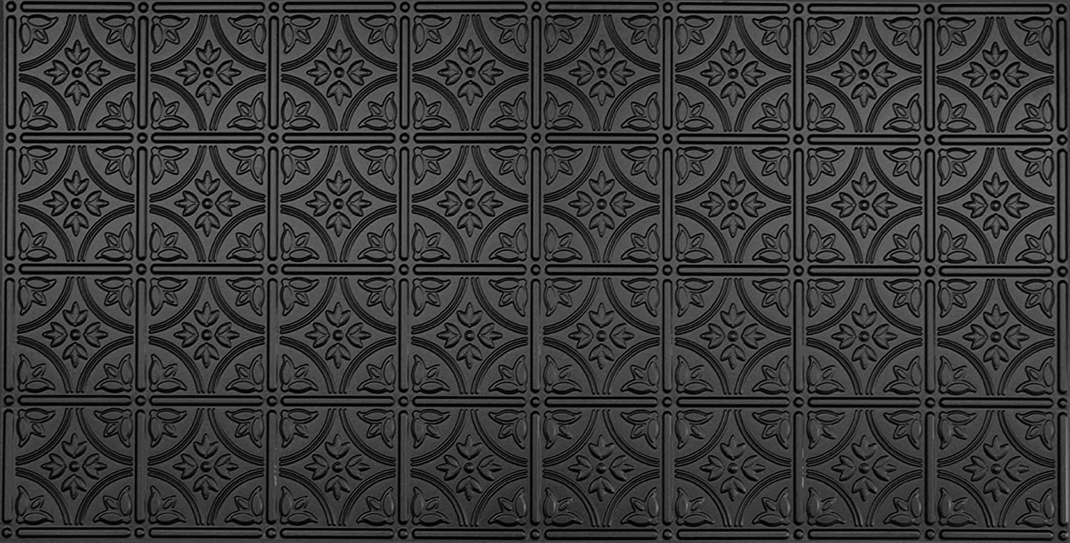 Global Specialty Products Pattern No.209 Tin Style Panel, 2 by 4-Feet, Black 209-06