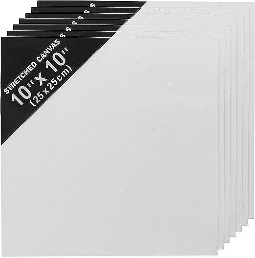 Lienzo en Blanco (Pack de 7) (25cm x 25cm) Panel Lienzo para ...