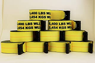 """product image for 10-Pack Professional Grade 4"""" x 30' Strap with Flat Hook - 5400 lb WLL"""