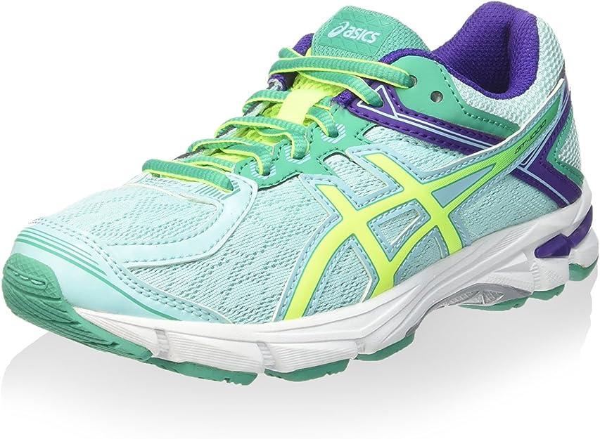 Asics Zapatillas de Running Gt-1000 4 GS Azul Ártico/Amarillo/Esmeralda EU 35: Amazon.es: Zapatos y complementos