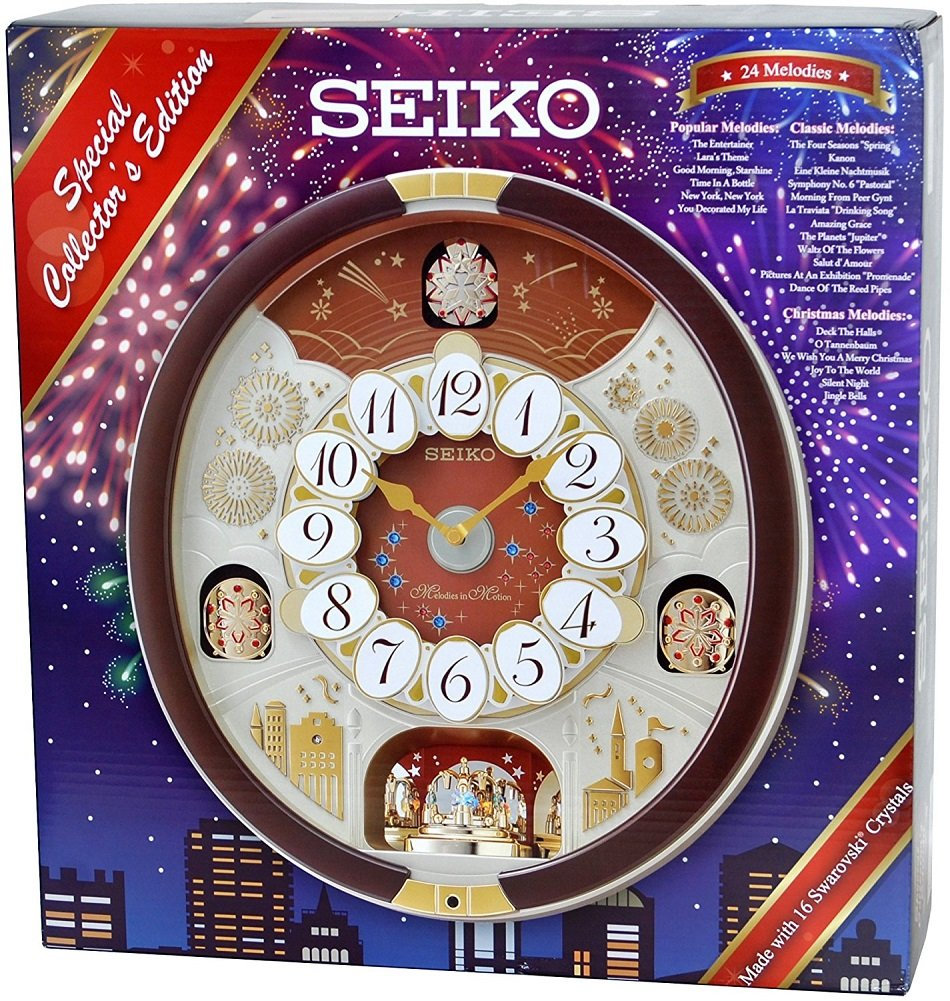 17c003406 Amazon.com: Seiko Special Collector's Edition Melodies (Assorted, Brown,  White): Home & Kitchen