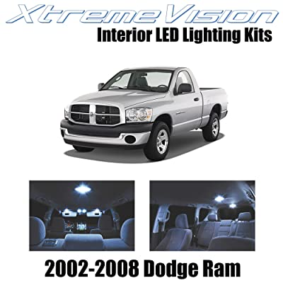 Xtremevision Interior LED for Dodge Ram 2002-2008 (10 Pieces) Cool White Interior LED Kit + Installation Tool: Automotive