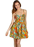BB DAKOTA Womens TRACY Tulip Printed Dress Sz L Multi Color 240260TAG