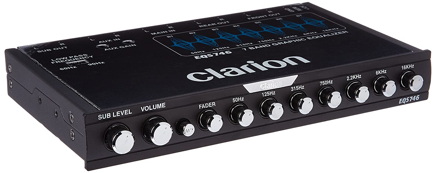 Clarion EQS746 ½ DIN Graphic Equalizer with Built-in Crossover}