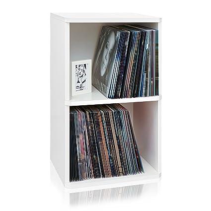 Way Basics 2 Shelf Vinyl Record Storage Cube And LP Record Album Storage  Shelf,