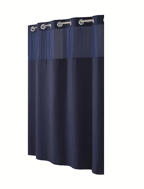 Hookless Fabric Shower Curtain -navy Blue: Amazon.co.uk: Kitchen ...