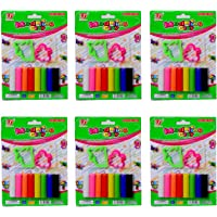 Arvana Stick Modelling Clay Small Velan, Rollar, 8 Moulds and a Cutter for Return Gifts for Kids Birthday Party(Pack of 12)