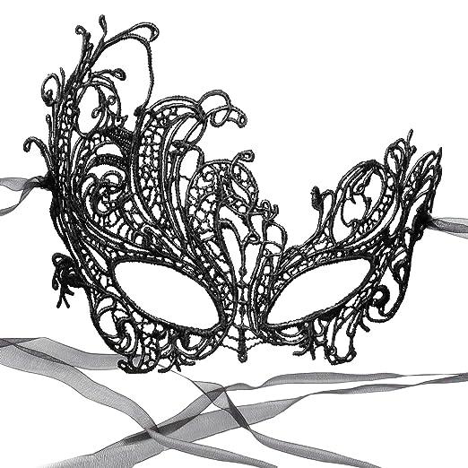 RXBC2011 Party m/áscara de Encaje de la Mujer m/áscara de Halloween para Masquerade Mardi Gras dorado