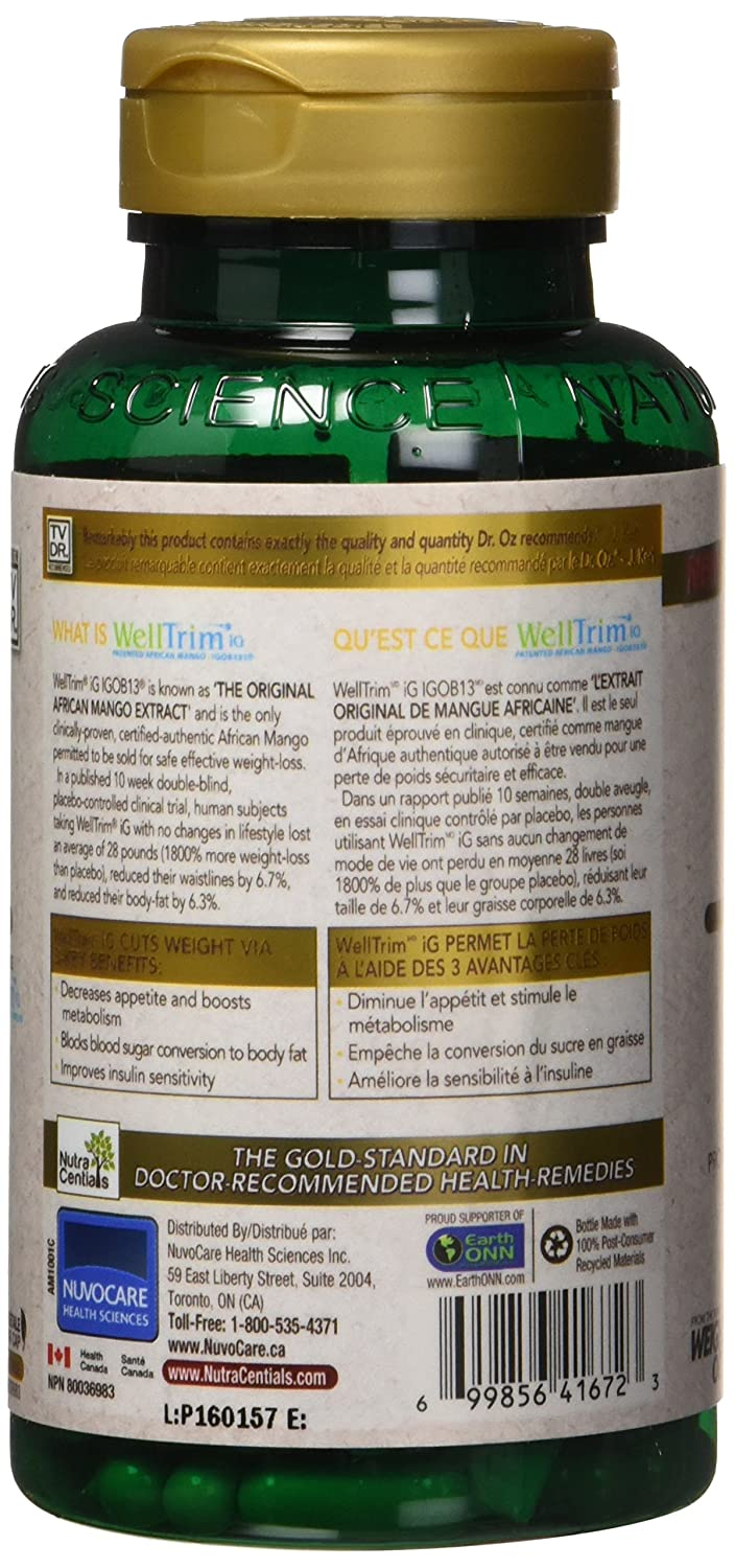 NutraCentials African Mango Nx, 60 Count