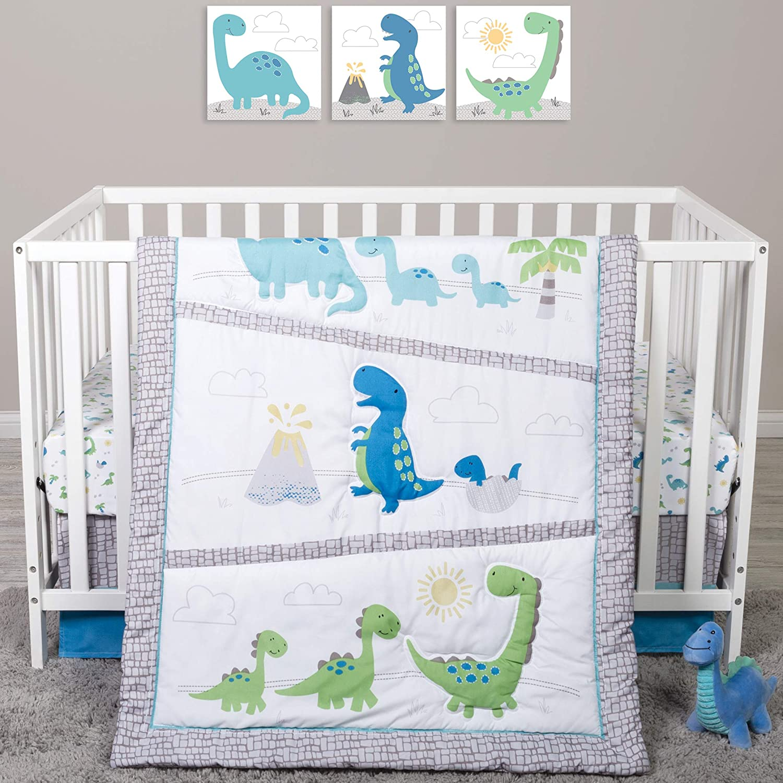 Sammy & Lou Sammy And Lou Dinosaur Pals 4 Piece Crib Bedding Set