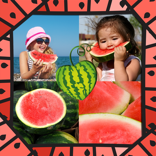 Watermelon Photo Collage