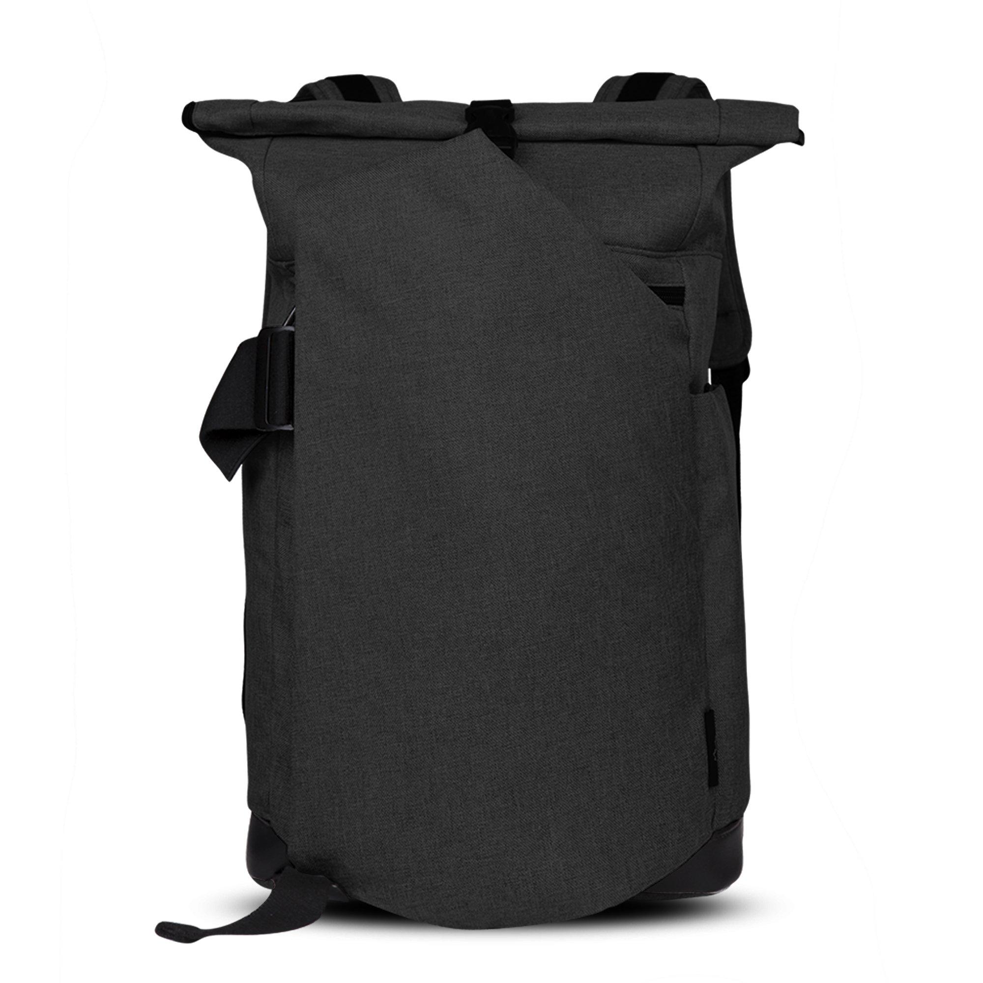 Cai 15.4 '' Business Laptop Backpack Anti-Theft Rolltop Bag Multifunctional Satchel Bag Water Resistant Computer Rucksack School Working Travel Commuting Bag for Men Women 5196 Ash Black