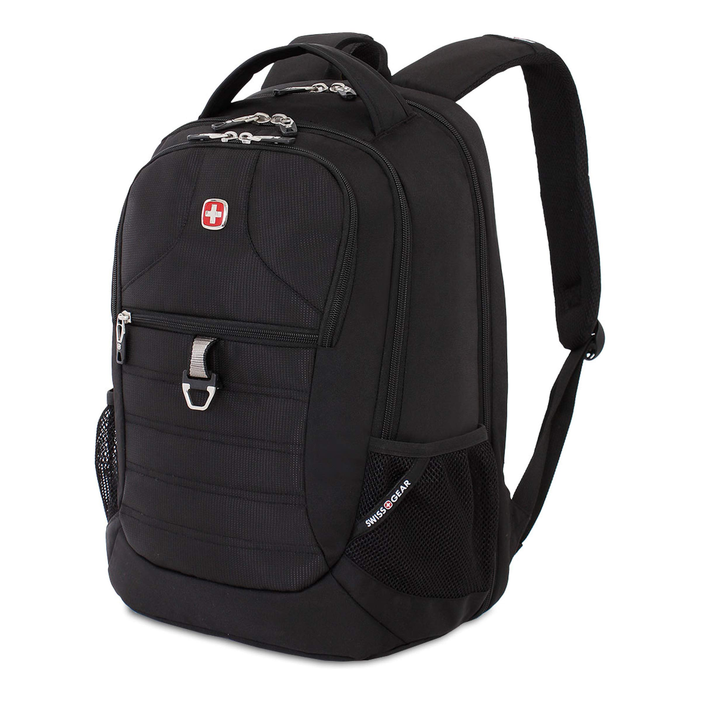 SWISSGEAR Large, Padded, ScanSmart 15-inch Laptop Backpack | TSA-Friendly Carry-on | Travel, Work, School | Men's and Women's - Black by Swiss Gear (Image #1)