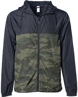 af56960ef Global Men's Hooded Lightweight Windbreaker Winter Jacket Water Resistant  Shell