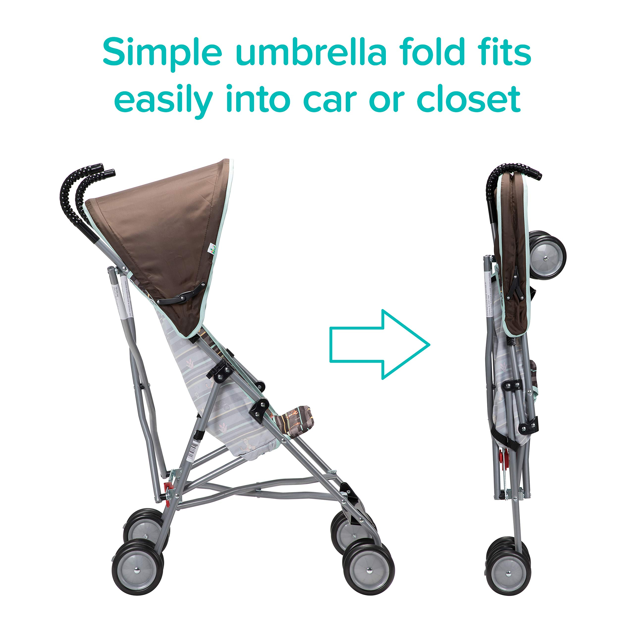 Disney Baby Winnie-the-Pooh Umbrella Stroller with Canopy (My Hunny Stripes) by Disney (Image #2)