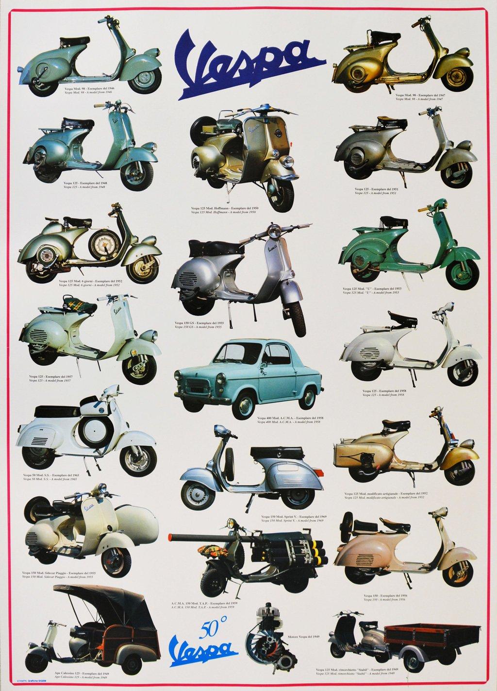 Poster VESPA Storiche - Ed. Sigem Grafiche Sigem Srl