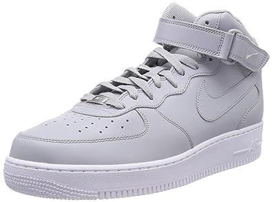 newest a2f67 1fbd5 Nike Herren Air Force 1 Mid 07 Basketballschuhe Grau Wolf Grey White 046, 41