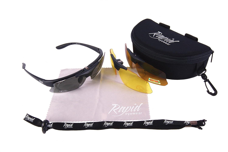 Eyewear E SPORTIVI OCCHIALI SOLE POLARIZZATI Rapid VISTA DA Neri RX NkOPnwZ0X8