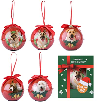CueCue Pet Twinkling Lights Hanging Christmas Tree Ornaments, Medium, Red - Amazon.com: CueCue Pet Twinkling Lights Hanging Christmas Tree