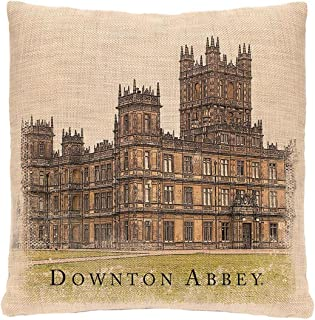 "product image for Heritage Lace 18"" Downton Abbey British Highclere Castle Decorative Square Throw Pillow"