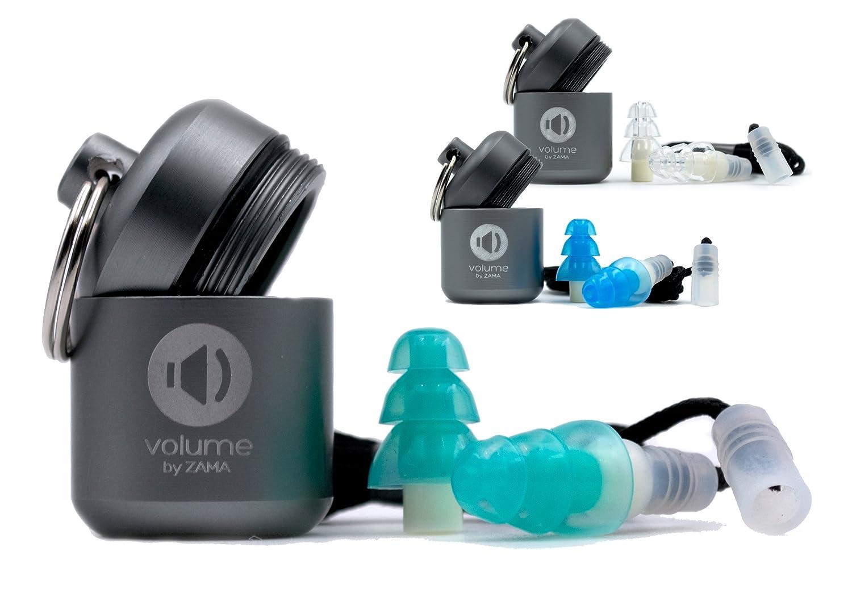 Gehörschutz-stöpsel Noise | Ohr-stöpsel zum arbeiten, fliegen, lernen, schlafen und Festival. Ohren-stöpsel mit Behälter und Kordel (SNR 26 dB), wiederverwendbar, türkis türkis Zama