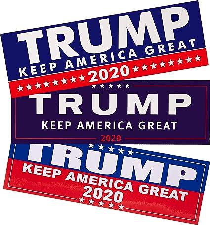 Donald Trump Bumper Sticker 2020 Keep America Great 2-Pack 9x3 inches