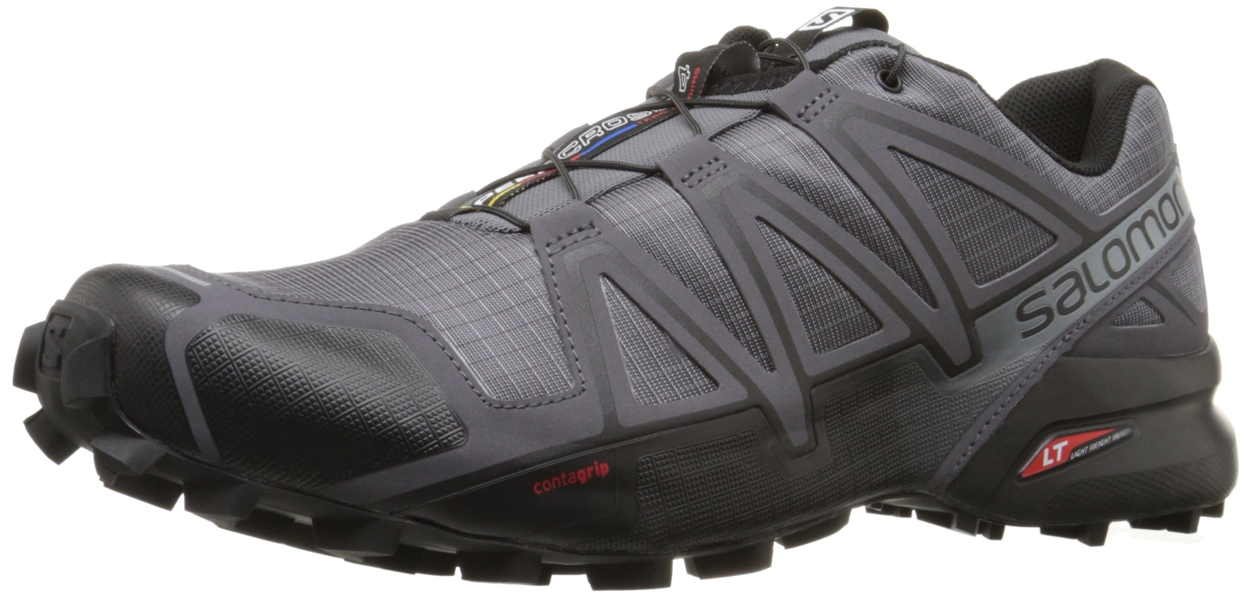 Salomon Men's Speedcross 4 Trail Runner, Dark Cloud, 8 M US by Salomon