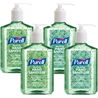 PURELL Advanced Hand Sanitizer Soothing Gel Metallic Design Series, Fresh scent, with Aloe and Vitamin E - 8 fl oz Pump Bottle (Pack of 4) - 9678-06-ECDECO