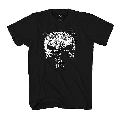 71b050475 Amazon.com  Marvel The Punisher Netflix Dirty Skull Vest Logo Adult ...