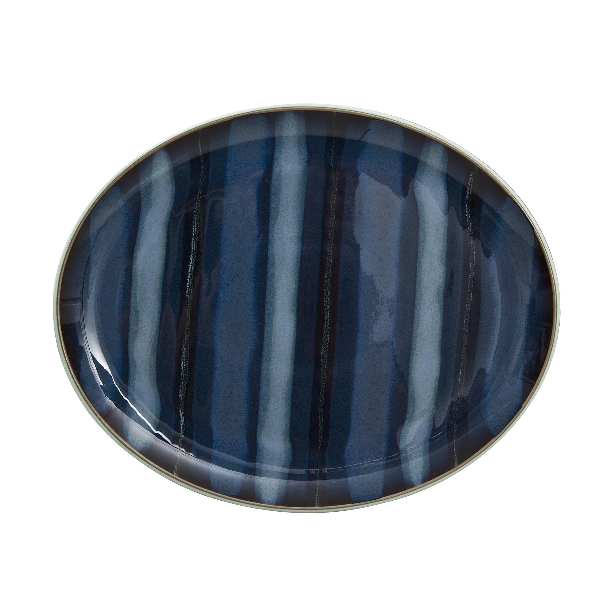 Denby USA Peveril Accent Oval Platter, Blue